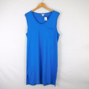 NWT J Crew Blue T Shirt Sleeveless Lounge Dress XL